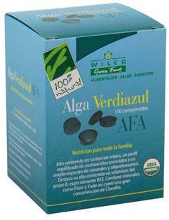 100% Natural Algas Verdiazules AFA 150 comprimidos