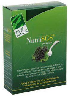100% Natural NutriSGS activado 30 cápsulas