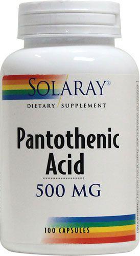 Solaray Ácido Pantoténico 500mg 100 cápsulas