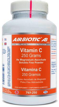 Airbiotic Vitamina C 250mg polvo 250g