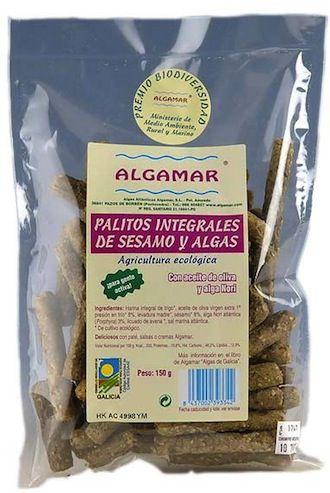 Algamar Palitos Integrales de Sésamo y Algas 150g
