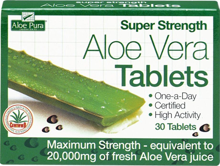 Aloe Pura Aloe Vera Potencia Máxima 30 comprimidos