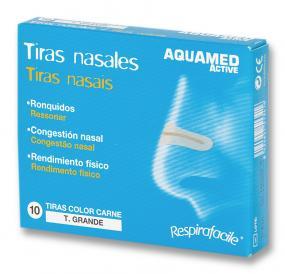Aquamed Tiras Nasales Grandes 10uds