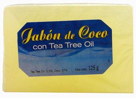 Artesanía Agrícola Jabón Coco y Tea Tree Oil 100g