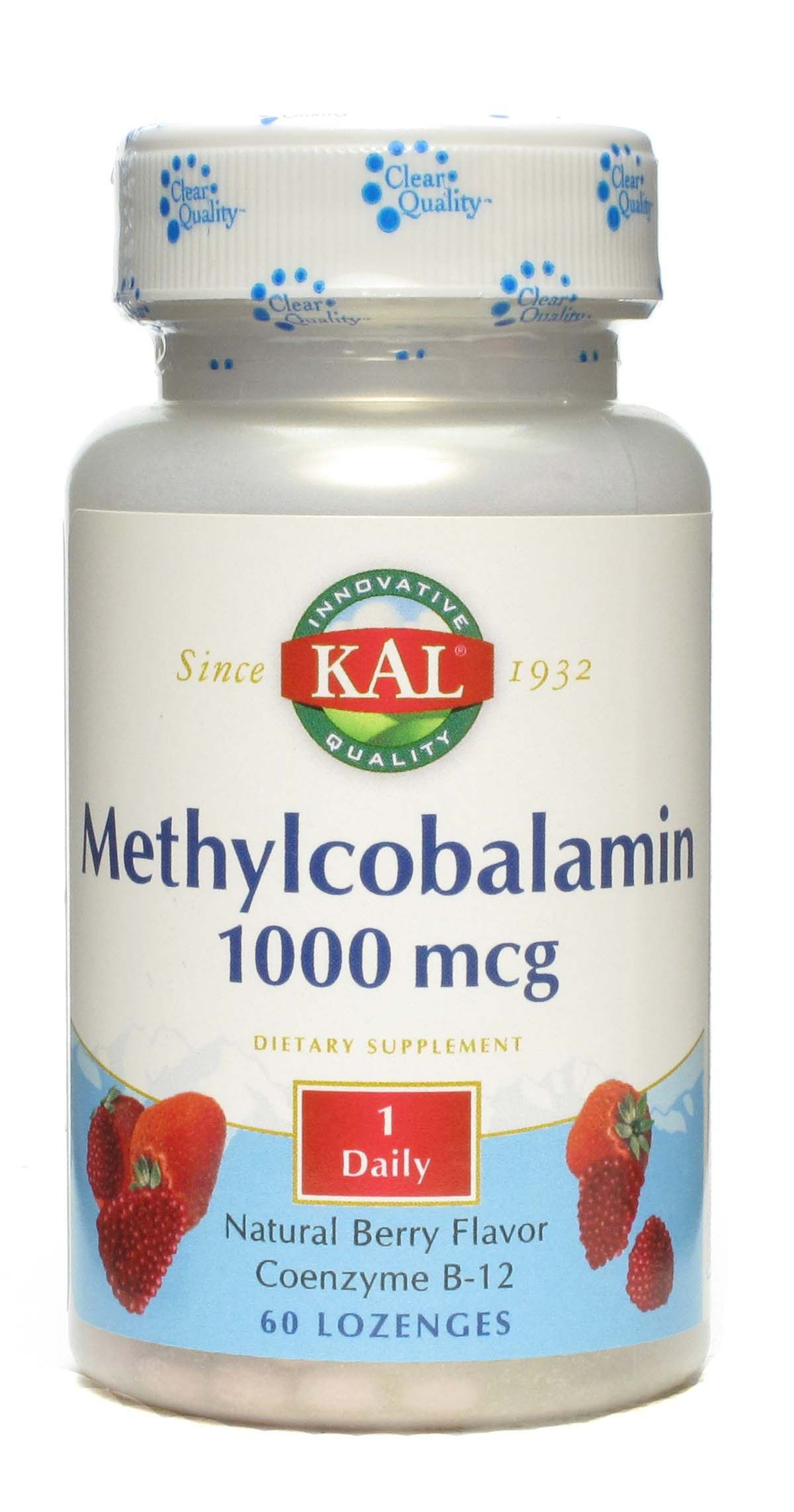 KAL Vitamina B12 1000 microgramos 60 comprimidos sublinguales