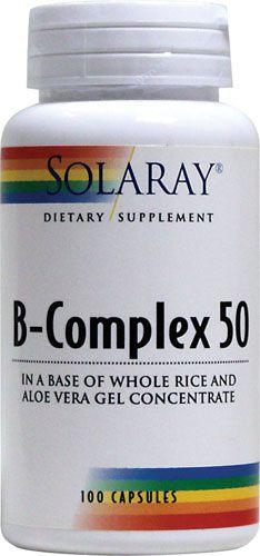 Solaray B Complex 50 50 cápsulas