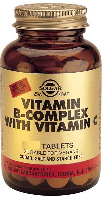 Solgar B-Complex con Vitamina C 250 comprimidos