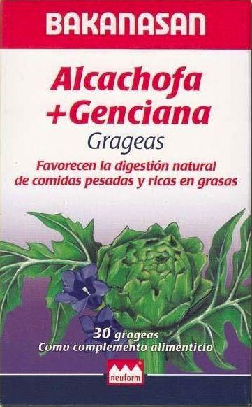 Bakanasan Alcachofa + Genciana 30 grageas