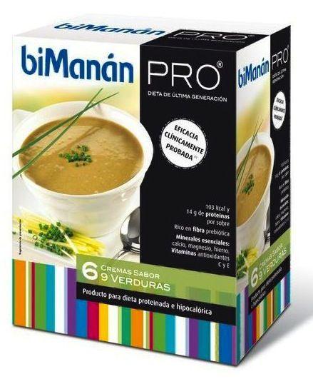 Bimanan Pro Crema 9 Verduras 6 sobres