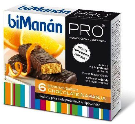 Bimanan Pro 6 Barritas Chocolate-Naranja