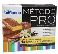 Bimanan Pro 6 Barritas Chocolate Vainilla
