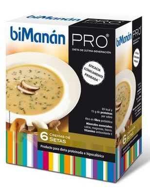 Bimanan Pro Crema Setas 6 sobres
