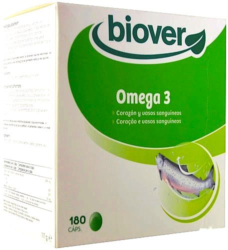 Biover EPA Omega 3 y DHA 180 cápsulas