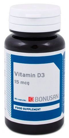 Bonusan Vitamina D3 15mcg 90 cápsulas