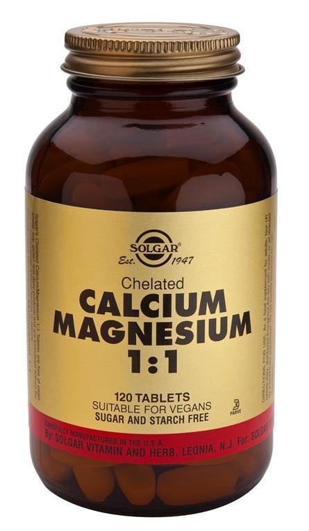Solgar Calcio Magnesio Quelado 1:1  120 comprimidos