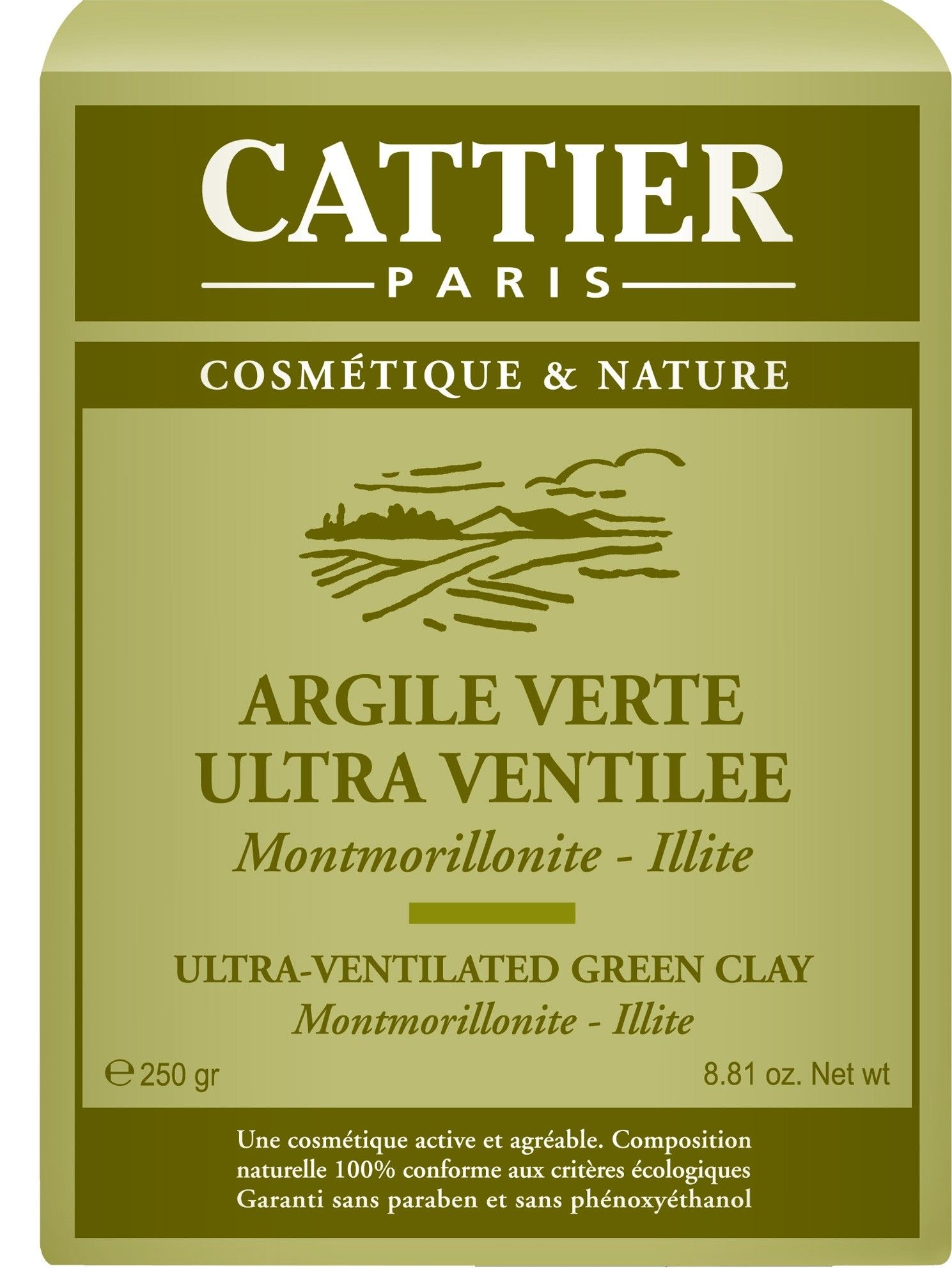 Cattier Arcilla Verde Ultra-Ventilada 250g