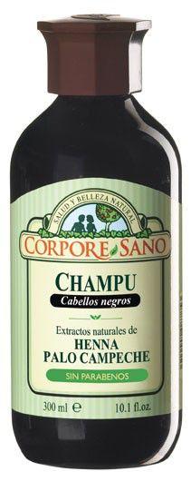 Corpore Sano Champú Henna Campeche Negro 300ml