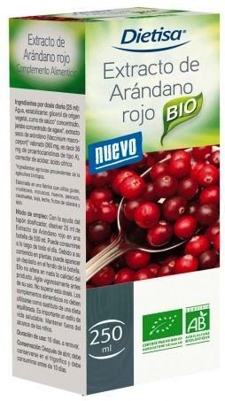 Dietisa Extracto de Arándano Rojo BIO jarabe 250ml
