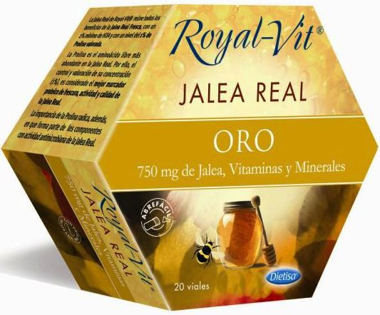 Dietisa Jalea Real Royal Vit Oro 20 ampollas