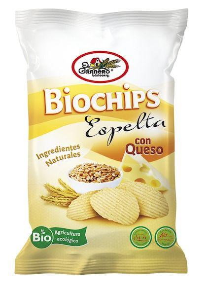 El Granero Integral Biochips Espelta con Queso 75g