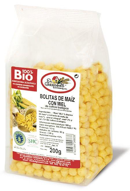 El Granero Integral Bolitas de Maíz con Miel Bio 200g