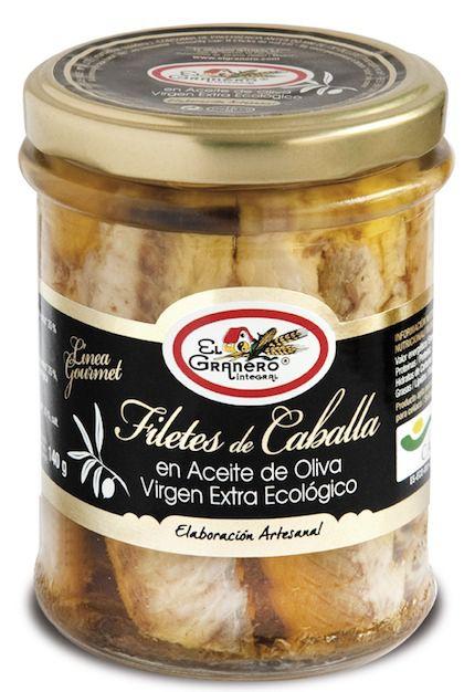 El Granero Integral Filetes de Caballa con Aceite de Oliva Bio 195g