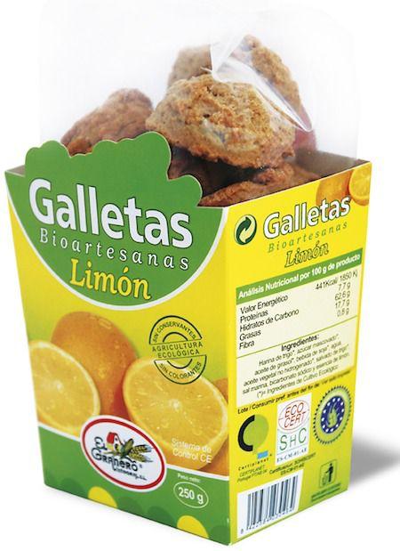 El Granero Integral Galletas Bioartesanas Limón 250g