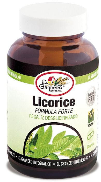 El Granero Integral Licorice Forte o regaliz 60 cápsulas 550mg