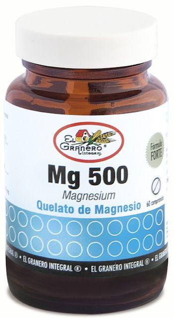 El Granero Integral Mg 500-Quelato de Magnesio 60 comprimidos 760mg