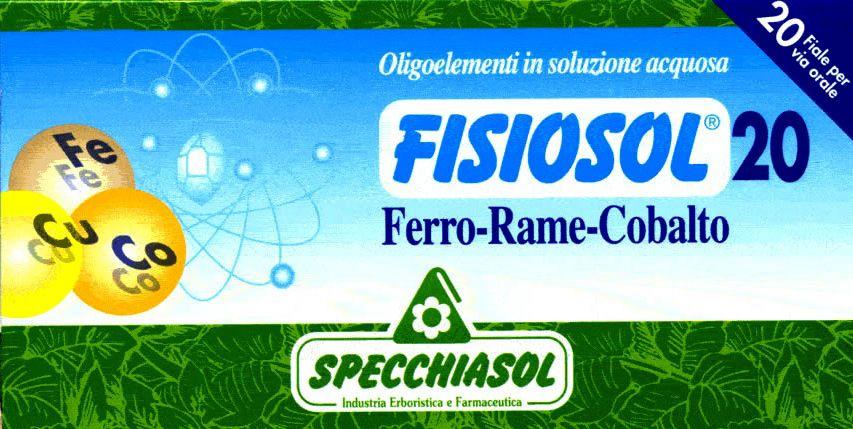 Specchiasol Fisiosol 20 Fe-Cu-Co 20 ampollas