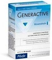 Pileje Generactive Resveratrol 30 cápsulas