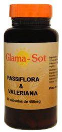 Glamasot Pasiflora y Valeriana 450mg 60 cápsulas