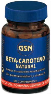 GSN Beta Caroteno Natural 50 comprimidos