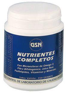 GSN Nutrientes Completos sabor vainilla 450g