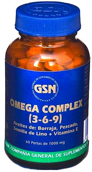 GSN Omega Complex 3 6 9 60 perlas