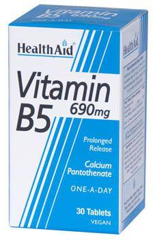 Health Aid vitamina B5 690mg  30 comprimidos
