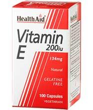Health Aid vitamina E natural 200UI  100 capsulas vegetales