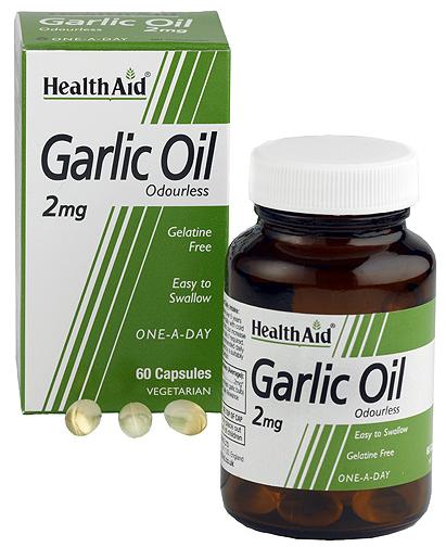 Health Aid Aceite de ajo 2mg 60 capsulas