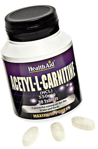 Health Aid Acetil-L-Carnitina 550mg 30 comprimidos