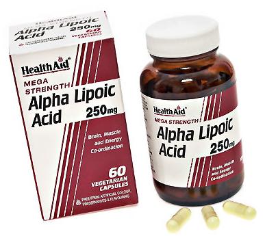 Health Aid Acido Alfa Lipoico 250mg  60 capsulas