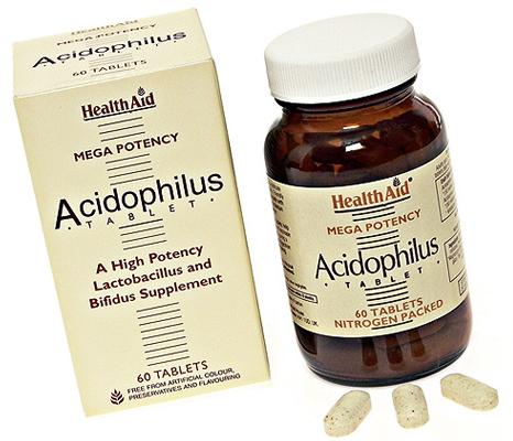 Health Aid Acidophilus Mega Potency 60 comprimidos