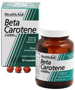 Health Aid Beta caroteno natural 23000 UI  30 capsulas