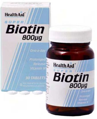 Health Aid Biotina 800ug 30 comprimidos