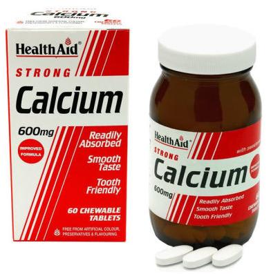 Health Aid calcio 600mg 60 comprimidos