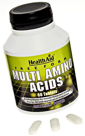 Health Aid complejo de aminoacidos en forma libre 60 comprimidos