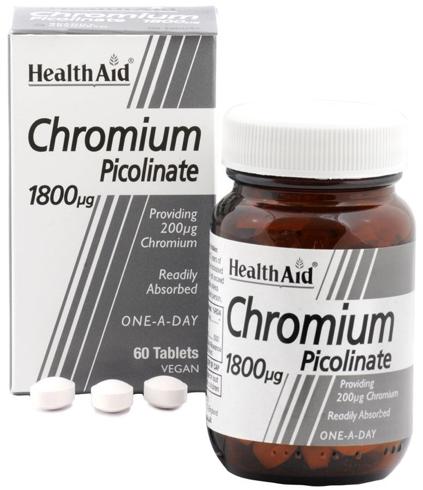 Health Aid Cromo Picolinato 200mcg  60 comprimidos
