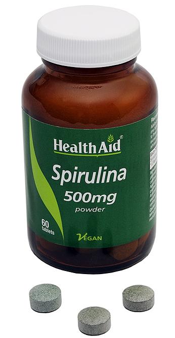 Health Aid Espirulina 500mg 60 comprimidos