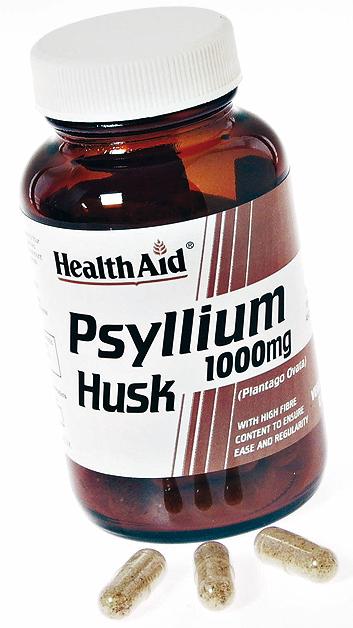 Health Aid Fibra de cascara de Psyllium 1000mg 60 capsulas