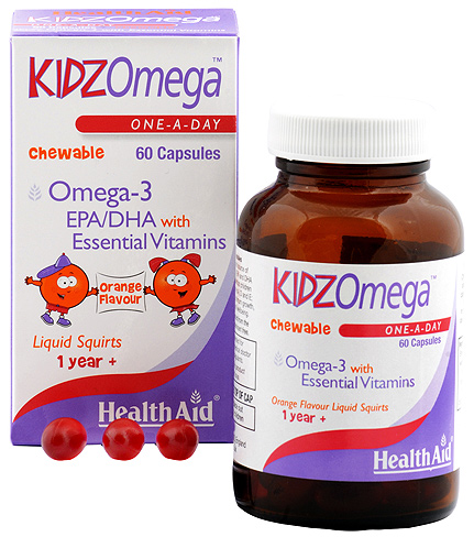 Health Aid KidzOmega 60 capsulas masticables