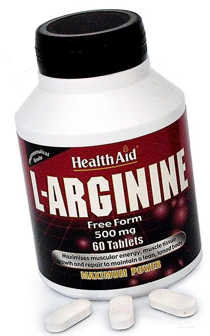 Health Aid L-Arginina 500mg  60 comprimidos